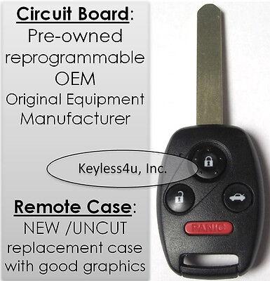G8d 380H A  Uncut Key Remote Transmitter Clicker Transmitter Entry Keyfob Fob