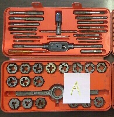 Tungsten Steel Tap And Die Set Professional Quality Vintage Metalwork Incomplete