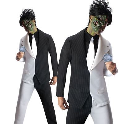 Adult TWO FACE Batman Villain Fancy Dress Costume Mens Horror Halloween two-face](Two Face Adult Costume)