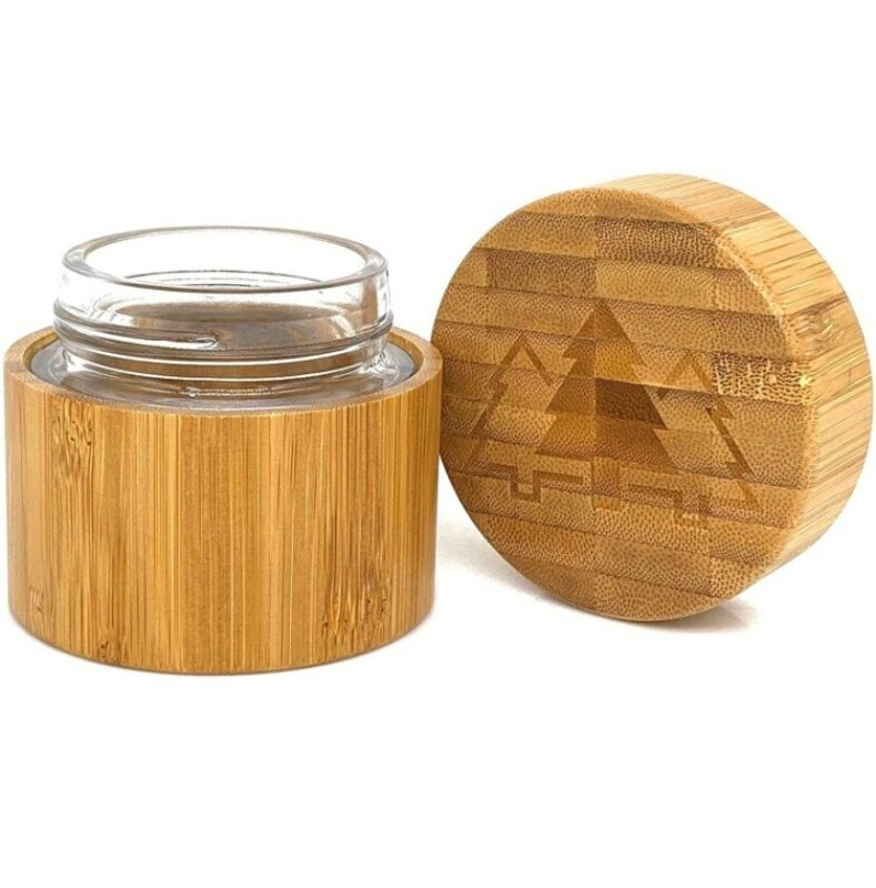 Bamboo Stash Jar   Smell Proof Container For Herb And Spices   100ml / 3.38 oz