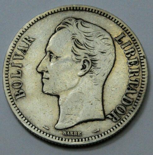 1911 Freemason President Simon Bolivar VENEZUELA Barre Founder Silver Rare Coin