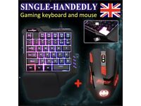 G92 single handedly gaming keyboard and mouse set