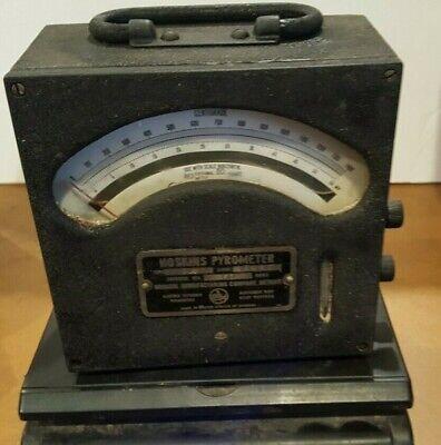 Antique Hoskins Thermo-electic Pyrometer Industrial Steam Punk Gauge Meter Vtg