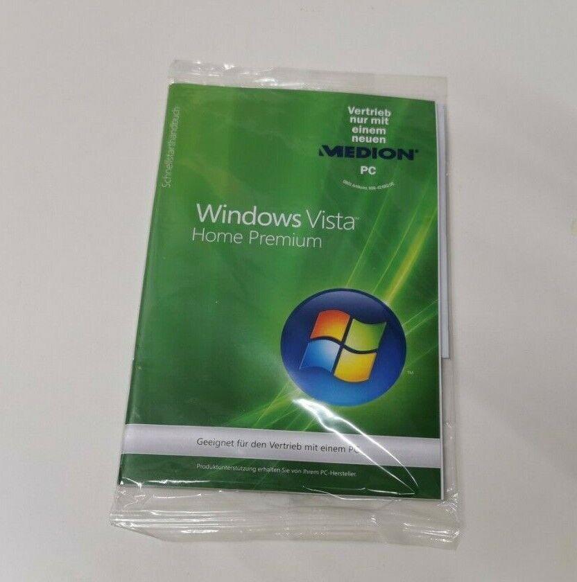 Windows Vista Home Premium -  Medion Marke  NEU auf Deutsch 64 Bit