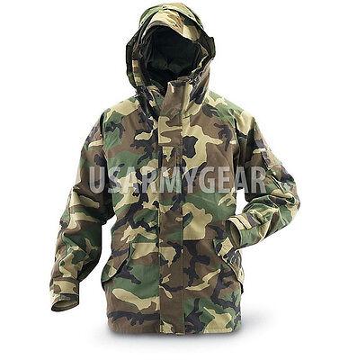 Woodland Nylon Parka - US Army Cold Wet Weather Gen 1 ECWCS Waterproof Woodland Goretex Parka Jacket
