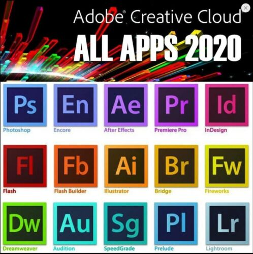 Adobe Creative Cloud 1 Year Subscription All Apps Annual Plan Prepaid