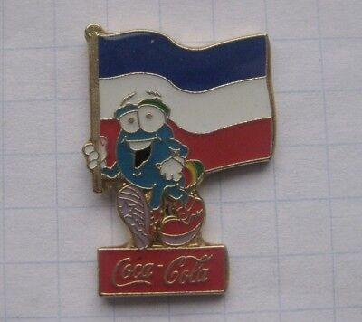 COCA-COLA / ATLANTA 1996 / IZZY / JUGOSLAWIEN  FAHNE.... Sport Pin (106a)