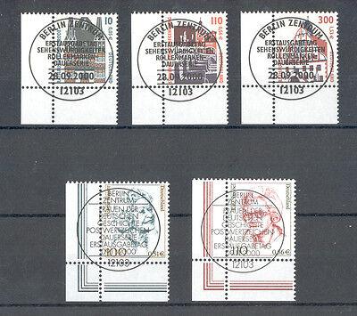Germany - Lot of canceled corner Stamps 2000 Mi.Nr. 2139A - 2141A, 2149-2150