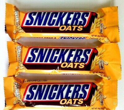 Snickers Oats Chocolate Bar 40g x 3 Bars, usado comprar usado  Enviando para Brazil