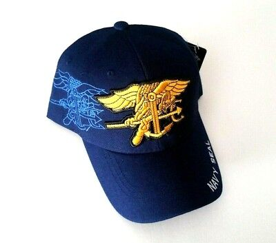 8e341c0b788ac U.S. NAVY SEAL Hat Baseball Cap Blue and Gold for sale Tempe