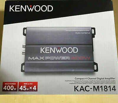 Kenwood KAC-M1814 4-Channel 400W Class D Compact Amplifier Marine Car Brand New