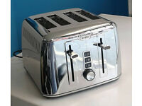 stainless steel breville 4 slice electric toaster graded with 12 month warranty
