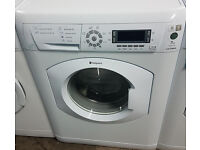 E300 white hotpoint 8kg 1400spin washing machine comes with warranty can be delivered or collected