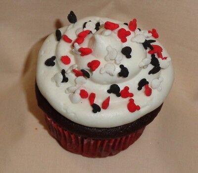 Mickey Mouse,Red,White,Black,Quins,Sprinkles,Edible Sugar,2oz.DecoPac. (Black Sprinkles)