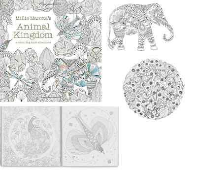 Adult Coloring Book ANIMAL KINGDOM Millie Marotta Color Draw Art