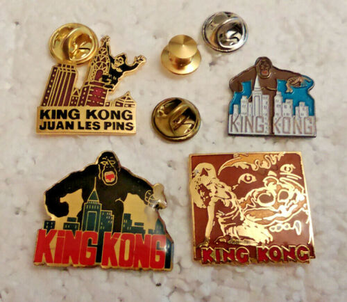 4 RARE King Kong Lapel Pins pin lot