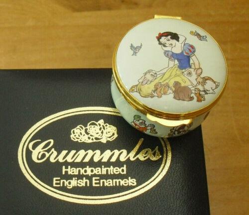 """Boxed Crummles/Disney Snow White & The 7 Dwarves Enamel Box - <1 3/4""""(>4.25cms)"""