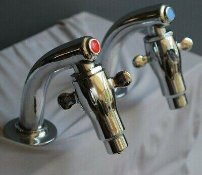 CHROME SUPA TAPS BASIN TAPS / RETRO SUPA TAPS FOR A BATHROOM / CLOAKROOM