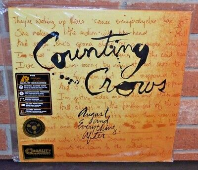 Everything 45 Rpm Records - COUNTING CROWS - August & Everything After, LTD 2XLP 200 GRAM VINYL 45 RPM, New!