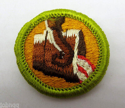 Vintage Boy Scout Merit Badge - Type G Cloth Back - Metallurgy