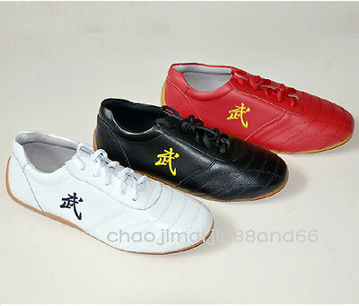 Wushu Kung Fu Martial Arts Tai Chi  wing chun soft Cow leather Shoes Sneakers (Tai Chi Leather)
