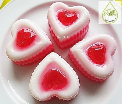 100 pcs Heart Shape 0.33 oz Disposable Plastic Cups Container Mini Jelly CupCake