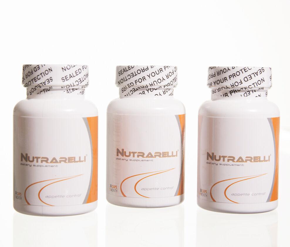 3 Bottles Nutrarelli (90 Cap) 2014 Month Weigth Loss Slim...