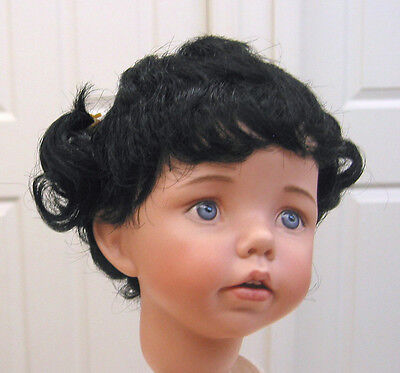 SWEETIE WIG Black 11-12 NEW doll wig with piggytails & bangs for girl dolls