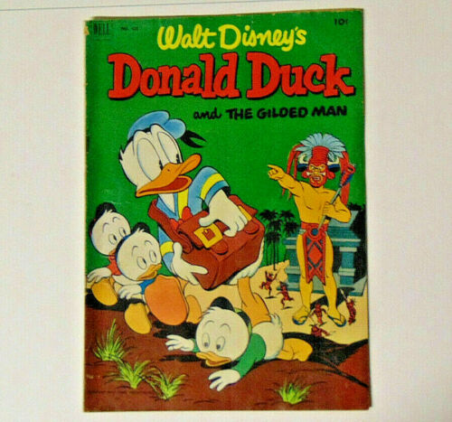 Donald Duck #422 VG Carl Barks The Gilded Man 1952 Dell Comics