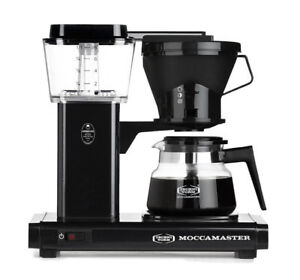 Technivorm Moccamaster 8-Cup Glass Carafe Coffee Brewer in Black