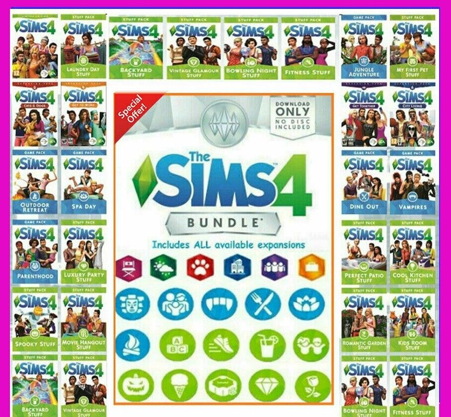 The Sims 4 PC All expansions And ALL DLC ???? Latest version ????OFFLINE GAME
