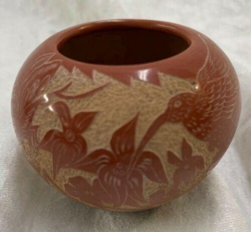 B Tafoya Hummingbird Vase Jemez Pueblo