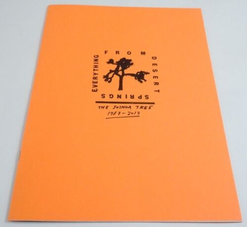 U2 Everything From Desert Springs Zine Joshua Tree RSD Record Store Day Book #d