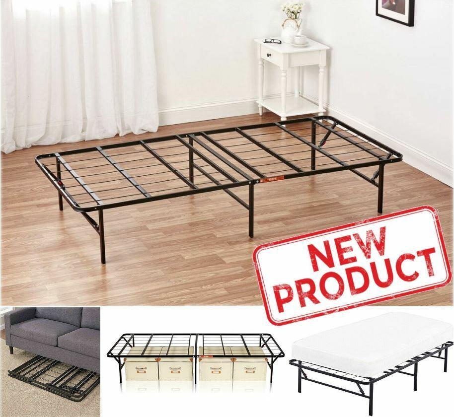 Platform Full Size Bed Frame 14 Inch Mattress Foundation Met