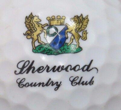 SHERWOOD  COUNTRY CLUB GOLF COURSE LOGO GOLF BALL