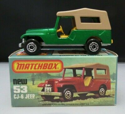Matchbox Lesney Superfast #53 Jeep CJ-6 1977 Green w/Original Box England