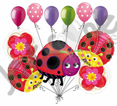 11 pc Miss Lady Bug Balloon Bouquet Party Decoration Birthday Baby Shower Flower](Lady Bug Birthday)