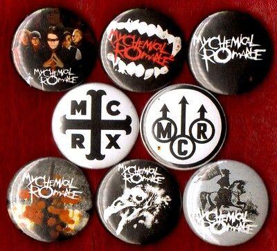 MY CHEMICAL ROMANCE 8 NEW button pin badge MCR EMO stocking stuffer