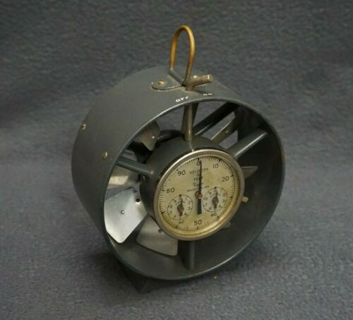 + Vintage RARE Taylor Velocity In Feet Wind Air Flow Anemometer F487 w/Case! +