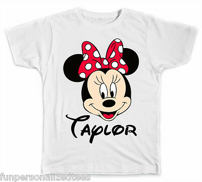 Personalized Disney Minnie Mouse Face T-Shirt - Minnie Face