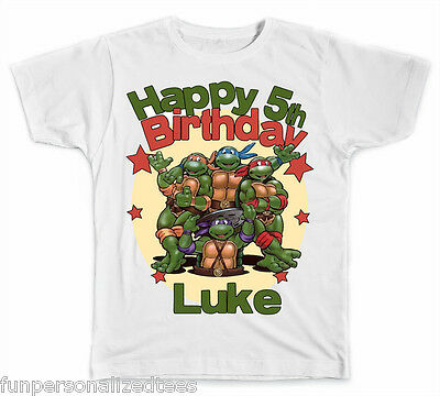 Personalized Teenage Mutant Ninja Turtles Birthday T-Shirt