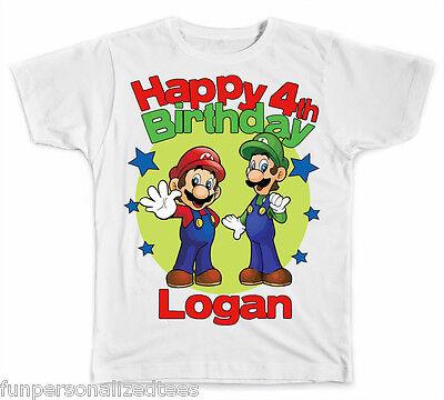Personalized Mario and Luigi Birthday - Mario And Luigi Birthday