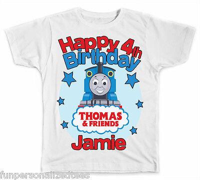 Personalized Thomas The Train Birthday T-Shirt