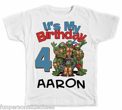 Personalized It's My Birthday Teenage Mutant Ninja Turtles Shirt