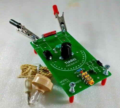 Crystal Radio Receiver Assembled Printed Circuit Board with Piezo Earphone RK-7C