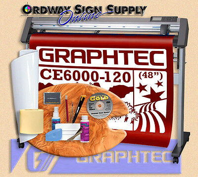 Graphtec Ce6000-120 Plus 48 Vinyl Plotter Cutter W Stand Acc. 2 Yr Wnty Obo