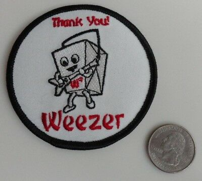 Weezer Chinese Take Out Embroidered Iron On Patch (Band, Music, LA) New - Rare