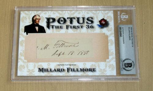 2020 Historic Autographs POTUS 1st 36 cut auto autograph Millard Fillmore