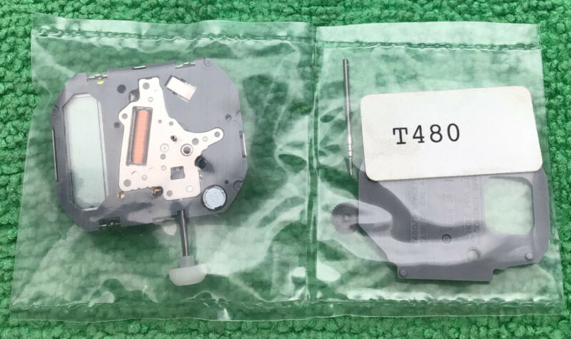 MIYOTA T480 Watch Movement With Stem, NOS