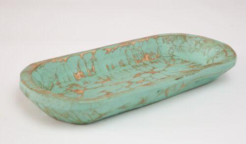 Rustic Dough Bowl-Batea-Farmhouse-Wood-Primitive-12W x 20L inches-Mint